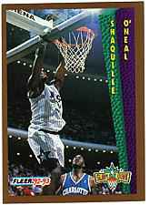 1992 Shaquille O'neil Fleer Rookie